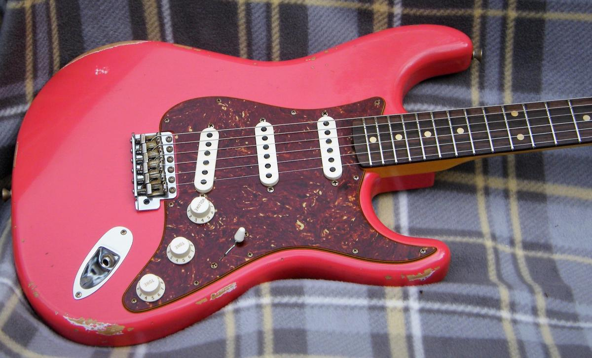 5381 fender custom shop 1960 relic strat fiesta red guitars4you. Black Bedroom Furniture Sets. Home Design Ideas